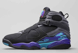 Nike Air Jordan 6 Alta qualità 8 Valentino 8s Aqua Black Viola Chrome Countdown Pack Scarpe da basket Uomo Sport Sneakers cheap purple day packs da pacchetti di giorni viola fornitori