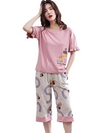 d6d7d052ba floral cotton pajama UK - Pajamas for Women Christmas Pajamas Women Pajamas  Sets Short Sleeve shirts
