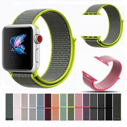 Banda de relógio de nylon on-line-Nylon tecido esporte pulseira de loop pulseira de relógio banda de relógio de substituição para apple watch banda série 1 2 3 4