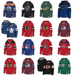 Guardabosques de nueva york online-Sudadera con capucha de hockey NHL personalizada Chicago Blackhawks Vancouver Canucks St. Louis Blues Tampa Bay Relámpago New York Rangers Boston Bruins