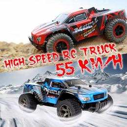 2019 coche de niños intermitente 55 KM / H 1/20 2.4 GHz 4WD RC Racing Car Control remoto eléctrico Off Road de alta velocidad de juguete de regalo de cumpleaños para niños niños coche de niños intermitente baratos