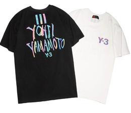 2019 camisas de cor t atacado 2019 novo tee y3 homens mulheres carta logotipo reflexivo impressão a cores t-shirt de manga curta o pescoço t-shirt atacado s-xxl desconto camisas de cor t atacado
