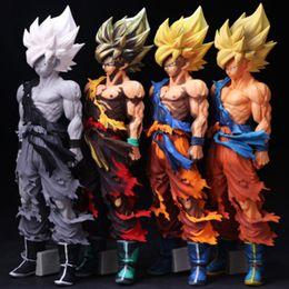 2019 ursinho de peluche preto e rosa Figuras Anime Dragon Ball Super Saiyajin Filho 6 Estilo 35 cm PVC Goku Figuras Brinquedo para Coleção Presentes HHA545