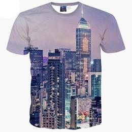Майка онлайн-3D модельер футболка США Empire Building Printing Мужская с коротким рукавом Повседневная Прохладный Летний топ Сити