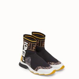 Белый высокий топ мужской кроссовки онлайн-2018 Новый FF Марка Мужчины Женщины Повседневная спортивная обувь Мода Высокий топ Slip-on Белые черные носки Кроссовки Унисекс Zapatillas Обувь для ходьбы 35-45