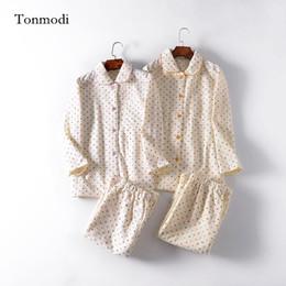 modelo de ropa interior rosa Rebajas Pijamas para mujeres Invierno Mujeres Dormir pijama Conjunto Air layer Cotton Suit Dot