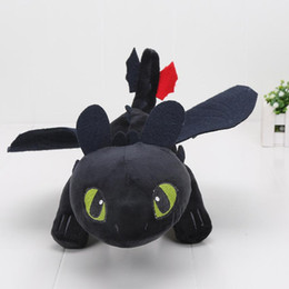 stuffed dragons Coupons - 25-60cm Anime How To Train Your Dragon Plush Toys Toothless Plush Night Fury Plush Stuffed Animal Doll Toy Christmas Kids Gift