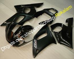 Cubierta para Yamaha YZF 600 R6 98 99 00 01 02 YZFR6 1998 1999 2000 2001 2002 YZF-R6 Carenado Negro Brillante (moldeo por inyección) desde fabricantes