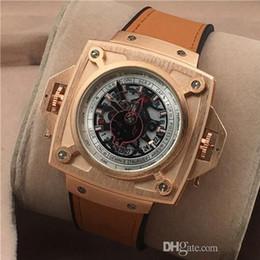 Relógios de quartzo quadrados militares on-line-Suíça top marca de alta quali multifuncional couro soldado relógio de quartzo grande quadrado masculino estilo esportes ao ar livre relógios militares
