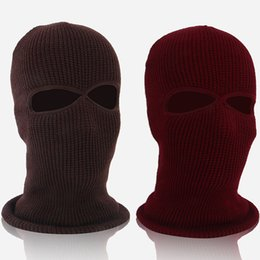 white male full face mask Promo Codes - Outdoor Riding Mask Full Face Winter Keep Warm Hat Male And Female Headgear Fleece Red White 6 5wf C1