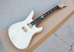 2019 guitarra elétrica top madeira Kit de Guitarra Elétrica Semi-acabado de Fábrica Personalizado (Peças) com Rosewood Fretboard, Flame Maple Top Madeira, Oferta Personalizado guitarra elétrica top madeira barato