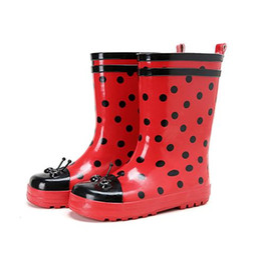 Мультфильм обувь продажа онлайн-Горячие Sale-Kids 2016 Новая Вода Детская Обувь Лето Резиновые Сапоги Дождя Весна Середины Теленка Мультфильм Мода Студенческие Сапоги Симпатичные Red Dot