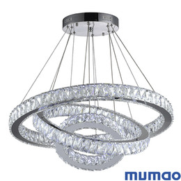 Anillo de luz del comedor online-Anillo LED Colgantes Lámparas Luces colgantes modernas Círculos LED Lámpara colgante Foyer Comedor Suspensión Lámparas de araña Iluminación Decoración del hogar