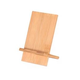 Canada Supports de bureau écologiques en bambou de 2 pièces Supports Supports Stents Plateformes universelles Supports Supports Docks Cradles pour téléphones mobiles et tablettes cheap bamboo cell phone holder Offre