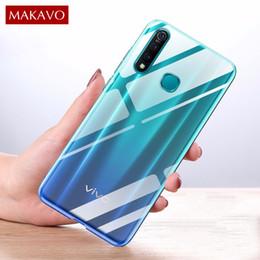 2019 téléphone transparent vivo Accessoires de téléphone portable Étuis pour téléphone portable Couvre MAKAVO Pour vivo 5X Case Z1 Pro Couverture transparente en cristal TPU pour VIVO Z5X