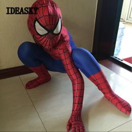 ostumes Zubehör Cosplay Kostüme spiderman kostüm kinder 3d mädchen kind die erstaunliche spider man maske kostüm anzug jungen spandex schwarz rot ... von Fabrikanten