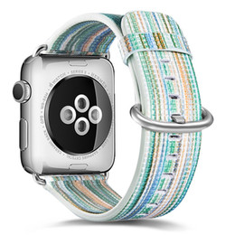 Pintado pulseira de couro genuíno para apple watch band 40mm 44mm pin fivela durável strap para apple iwatch ban38 mm 42mm de