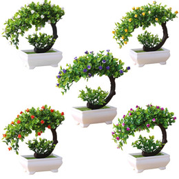 2019 piante bonsai false Artificiale Pianta Bonsai Fiore finto Ornamento in vaso Home Hotel Decorazioni da giardino Regalo Piante artificiali Nuovo piante bonsai false economici