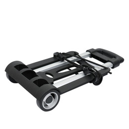 Ferramentas de mão de duas rodas dobráveis portáteis do carrinho de mão do carrinho do reboque do leito do carrinho do curso da compra da bagagem de