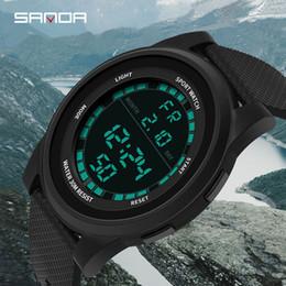 Sportivo sottile orologio online-2019 New Super Slim Digital Watch Uomo Impermeabile 3ATM Orologi da uomo Ultra sottile orologio sportivo militare Relogio Masculino