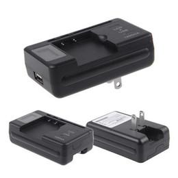 Chargeur de batterie pour téléphone intelligent en Ligne-Chargeur de batterie universel EU PLUG LCD écran indicateur Téléphones cellulaires Chargeur USB pour téléphones cellulaires Smart Charger