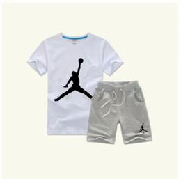 Классическая одежда для девочек онлайн-2019 горячее надувательство классический новый стиль 2-9 лет Детская одежда для мальчиков и девочек Спортивный костюм детские младенческой с коротким рукавом одежда дети набор