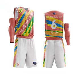 7572615f38d cheap DIY Kids Basketball Jersey Sets Uniforms kits Child Boys Sports  clothing Breathable Mens Training basketball jersey children s sports sets  promotion