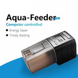 2019 comederos automáticos para peces Alimentación de mascotas Dispensador LCD Indica alimentador de peces Alimentador automático de peces para acuario Fish Tank Alimentadores automáticos con temporizador al por mayor