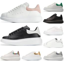 0da3ce8e Alexander Mcqueens Baskets hombre para mujer diseñador de la marca Blanco  Cuero negro grueso Rojo estrella blanco zapatos aumentar las reinas  zapatillas de ...