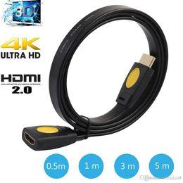 2019 hdmi male 3rca Премиум Позолоченный HDMI Удлинитель Удлинитель между мужчинами и женщинами ЖК-телевизор HDTV 1080P 0,5 м 1 м 3 м 5 м
