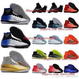 Argentina zapatos de fútbol cr7 baratos Mercurial Superfly V SX Neymar TF zapatos de fútbol para interiores Cristiano ronaldo botas de fútbol de cuero talla 39 - 46 Caliente Suministro