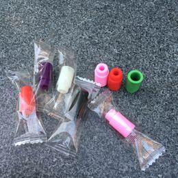Punta grip usa e getta online-510 Bocchino in silicone Cover Drip Tip Testate monouso in silicio colorato Tappi in gomma Test Tester Cap per serbatoio RDA