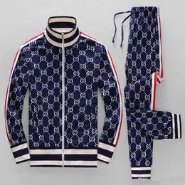 Männer laufen anzug online-19ss Jahr Sportbekleidung Jacke Anzug Mode Laufsportbekleidung Medusa Herren Sportanzug Briefdruck Kleidung Trainingsanzug Sport