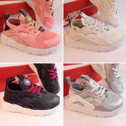 2019 capretto di huarache Big Kids Huarache 4 Sneaker per Ragazzini Hurache Sneakers Toddler Girls Huaraches Sneakers Running Bambini Huraches Scarpa sportiva Kid Youth capretto di huarache economici
