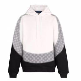 Männer-pullover jacquard online-19FW Jacquard-Monogramm-Farbabstimmung Hoodys Splice Männer Frauen klassische Pullover Herbst-Winter-Strickjacke-Straße Outwear HFYMWY325
