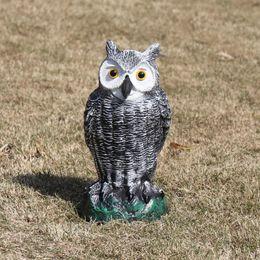 Pássaros ornamento on-line-Estátua da coruja Pe Ao Ar Livre Susto Ratos Aves Simulados Caça Animais Iscas Para Mesa Em Casa Jardim Decoração Ornamento C19041702