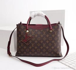 sac 75l Promotion Hot classique lettre canvsa avec des femmes en cuir véritable embrayage sacs à main de la mode des femmes N40052