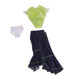 kleid t-shirts Rabatt Neues modisches Partykleiderset - Tops T-Shirt und Denim Halblange Rock Minirock Für Blythe Puppe Sommer Bekleidungszubehör