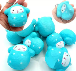 courroie de téléphone squishy Promotion Mignon PU Squishy Super Slow Rising Jumbo Squishy Squeeze Phone Strap Kids Fun Toy Décompression ToyNew Squishy Kawaii Cartoon Shee