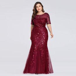 2019 formas africanas do arco 2019 Nova chegada lantejoulas mulher sempre bonitas Plus Size US4-US22 vestidos bridalmaid sereia para o casamento, vestido formal boutique senhora