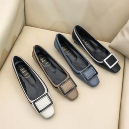 женские туфли на каблуках Скидка Классические пряжки туфли на высоком каблуке офисные туфли на высоком каблуке с низким каблуком из высококачественной натуральной кожи женские туфли на каблуках из натуральной кожи