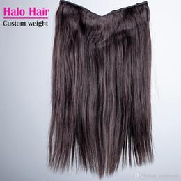 Человеческий волос флип-ореол онлайн-Halo Flip In Human наращивание волос бразильский прямой натуральный цвет 100 г 120 г 140 г 160 г 24-30 дюймов Halo девственные человеческие волосы