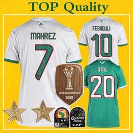 Maillot Algerie 2 Etoiles Jersey del fútbol de Argelia Dos Estrellas 2019 mahrez BOUNEDJAH Feghouli maillot de fútbol pies Algerie Camisa desde fabricantes