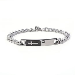 078b0431919 new gold boys bracelets Coupons - Stainless Steel Cross Bracelet New Love  Boy And Girl Gold