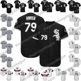 camisola de basebol de flanela Desconto Personalizado Chicago Sox Cinza Preto Costurado Jersey Jersey 2019 Branco # 5 Yolmer Sanchez 7 Tim Anderson 10 Yoan Moncada 79 Jose Abreu