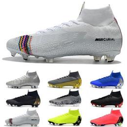 Mercurial Superfly VI 360 Elite FG KJ 6 XII 12 CR7 Mens morsetti di calcio di Ronaldo Neymar tacco alto scarpe da calcio ACC Scarpe da calcio