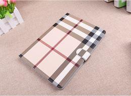 bolsos de cuero negro de china Rebajas Soporte de alta calidad cubierta de la tableta de la rejilla a cuadros iPad funda para iPad mini 1234 ipad pro 9.7 / 10.5 / 11 Air 2 Lattice Case DHL 20pcs