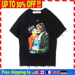 Canada mens designers t-shirt de luxe hors tshirt blanc 19ss kiss Zombie Vampire imprimé flèche logo tendance tee de haute qualité Offre
