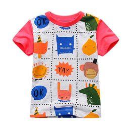 ec0303a0435 2019 New Fashion Summer Girls Boys Kids Tees Tops Cotton Cartoon T-Shirt  Character T Shirt 6pcs lot