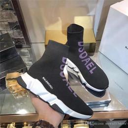 2019 chaussettes de style de chaussures NO.1Balenciaga 2019 Nouveau Style Dsoael Tricot Chaussette Vitesse Runner Sneakers Chaussures Avec Boîte D'origine promotion chaussettes de style de chaussures
